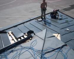 Puidutööd, valtsplekk katus